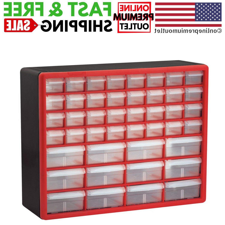 Plastic 44-Drawer Craft Parts Tool Bin Storage