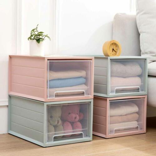 Plastic Storage Drawer Shelf Holder Cabinet Organizer