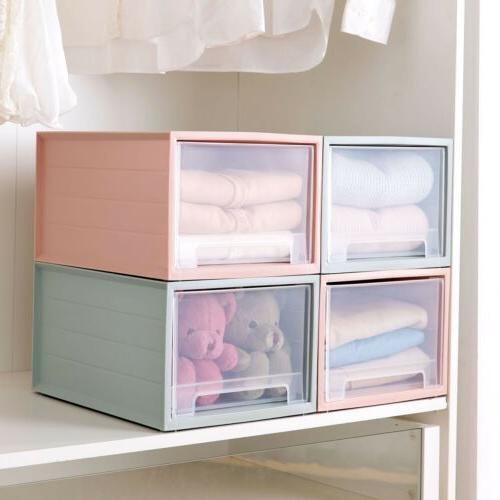 Plastic Clothes Box Drawer File Shelf Holder Cabinet Office