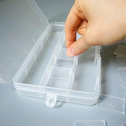 DUOFIRE Storage Box Divider Removable Jewelry Beads Tool Accessories