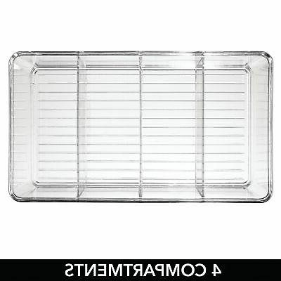 mDesign Craft Sewing Box - Clear