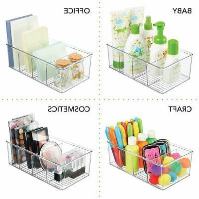 mDesign Craft & Sewing Storage Organizer Bin Box -