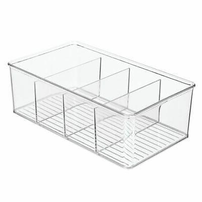 mDesign Sewing Organizer Bin Box - Clear