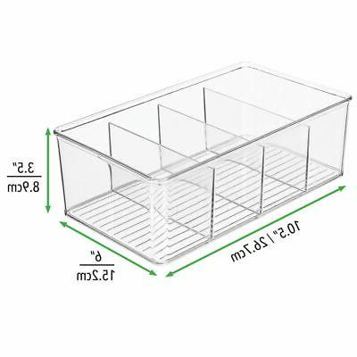 mDesign Plastic Craft Sewing Bin Box Sections
