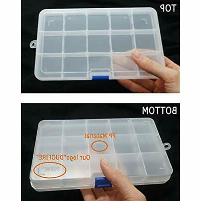 Plastic & Supplies Organizer Box Adjustable Grid