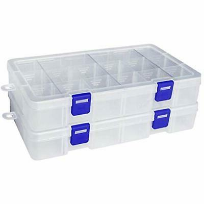 Plastic & Sewing Supplies Organizer Container Box Grid