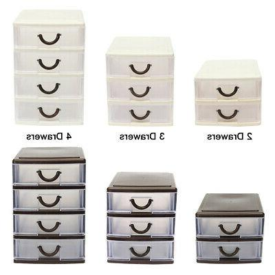 Plastic Drawer Small Tower Storage Unit Office Cosmetic Scho