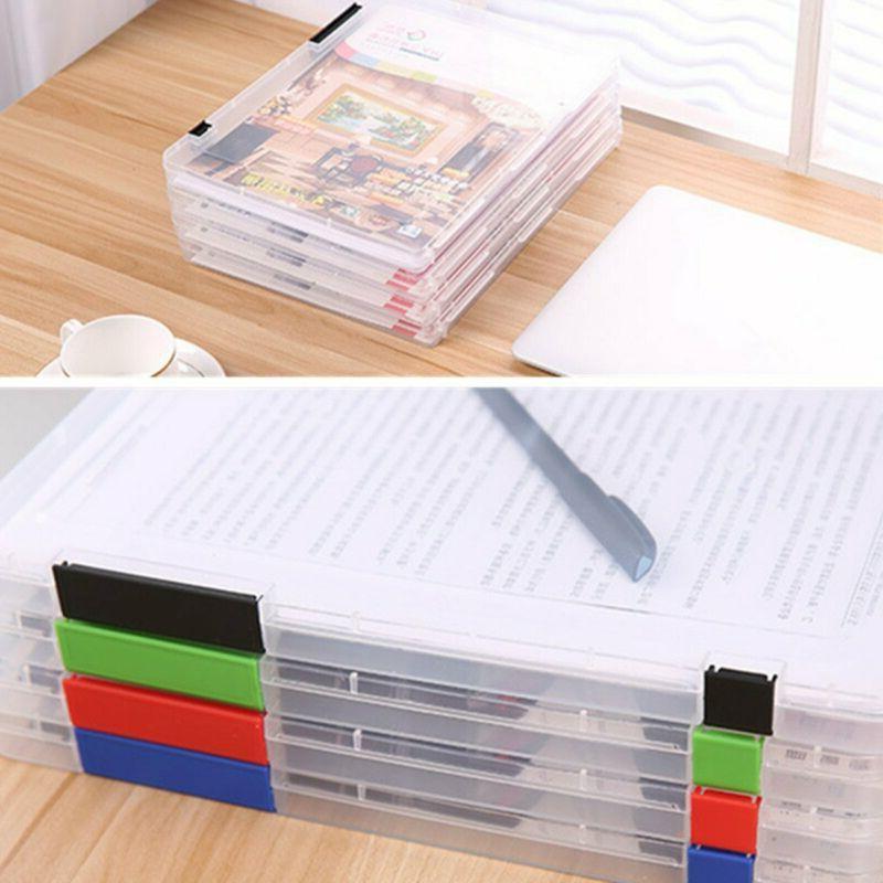Plastic Folder Clear Desk Paper Organizers Size Blue