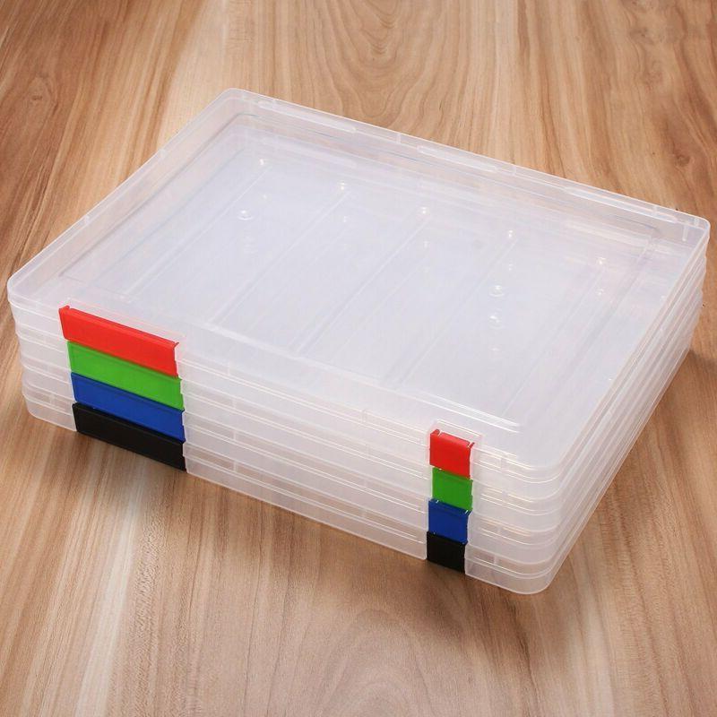 Plastic Folder Desk Paper Organizers Size A4 Blue
