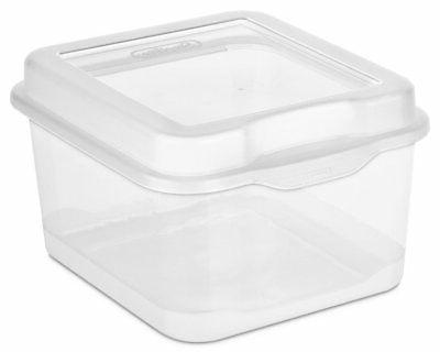 Sterilite FlipTop Storage Clear 18038612