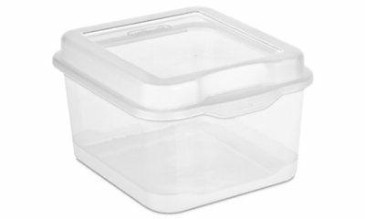 Sterilite Plastic FlipTop Storage