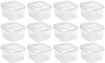 plastic fliptop latching storage box clear 12