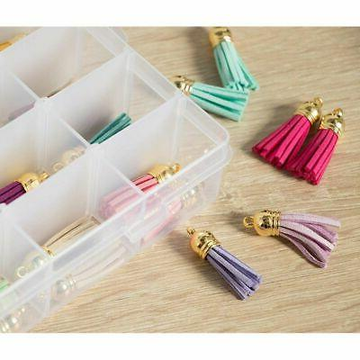 Plastic Clear Bead Container Earrings