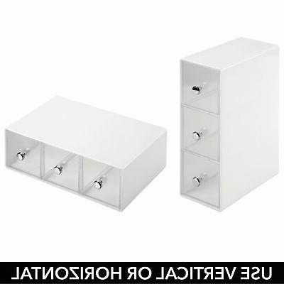mDesign Plastic Organizer Box, Drawers