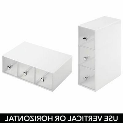 mDesign Plastic Storage Organizer Drawers