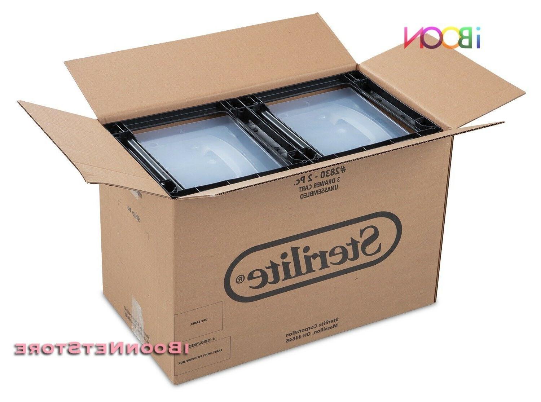 Plastic 3 DRAWER STORAGE Set Bin Box