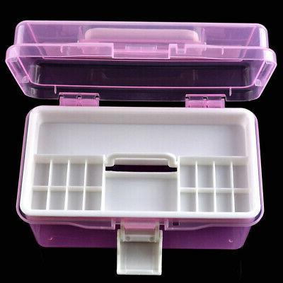 Useful Empty 2 layer Storage Case Box Organizer Container Na