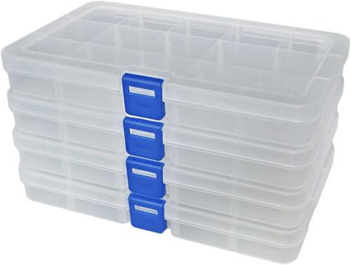 plastic organizer container storage box adjustable divider