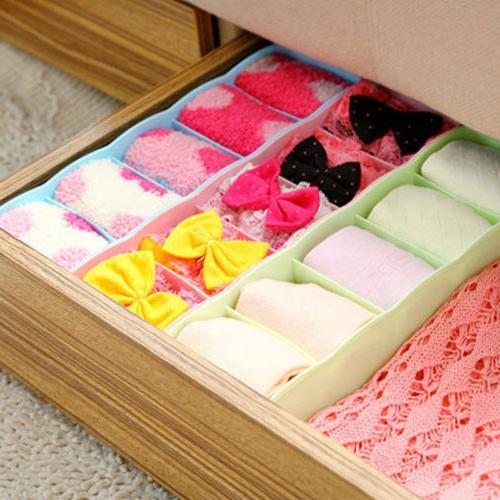 Plastic Organizer Tie Bra Socks Drawer Divider Storage
