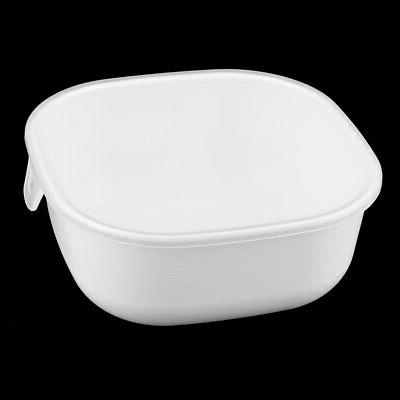 Plastic Square Food Vegetable Holder Container Box White