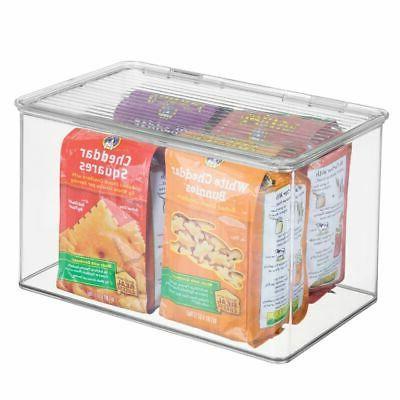 mDesign Stackable Food Storage Lid