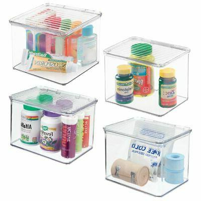 plastic stackable vitamin first aid storage box