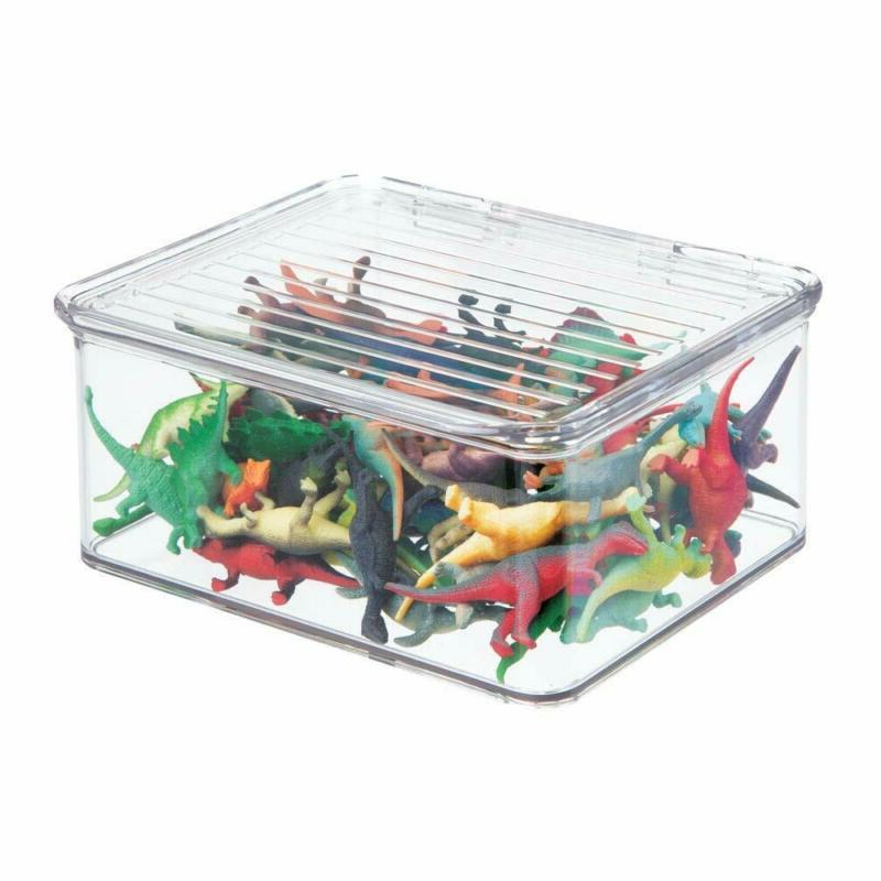mDesign Plastic Toy Box Lid for Acti