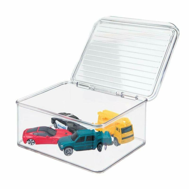 mDesign Toy Box with Lid for of Acti