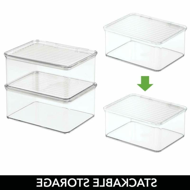 mDesign Stacking Organizer Toy Lid for Acti