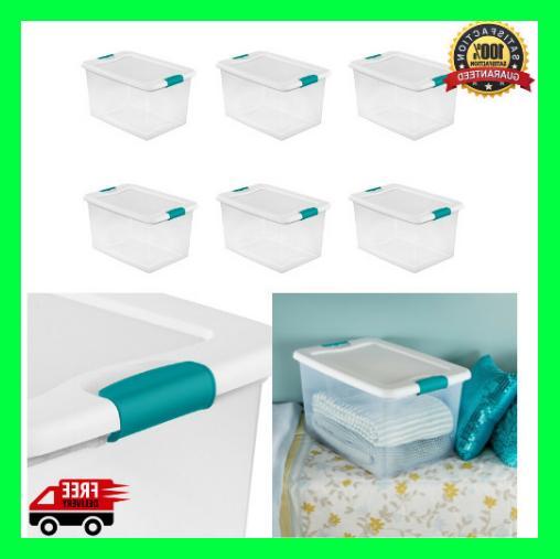 plastic storage bins with lids large tote