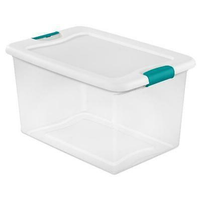 Sterilite Qt. Latching Box White of 6