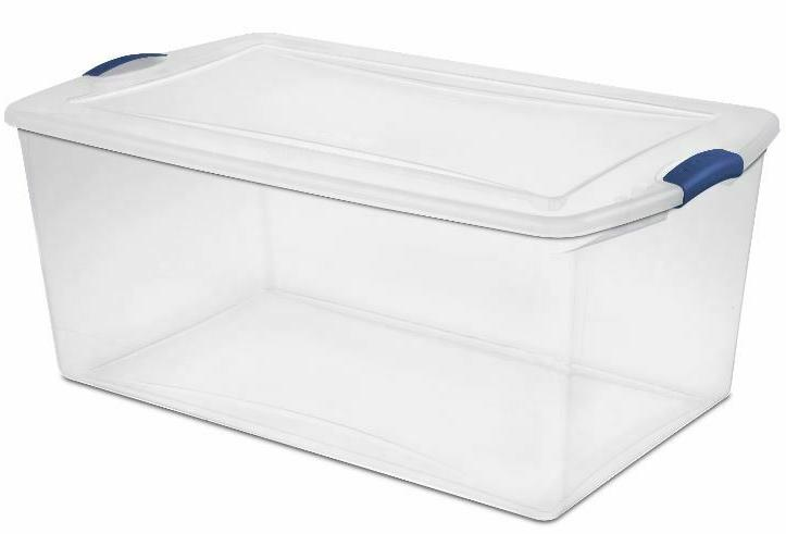 PLASTIC CONTAINER 105 4 Latch Clear Bin