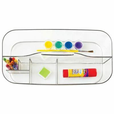mDesign Storage Caddy Tote for Craft Clear