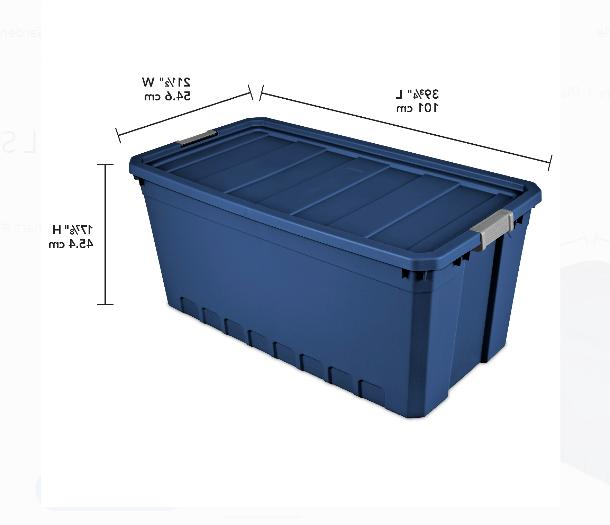 Plastic Containers Large Blue Gallon Stacking of