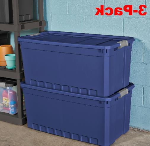 plastic storage containers large blue 50 gallon