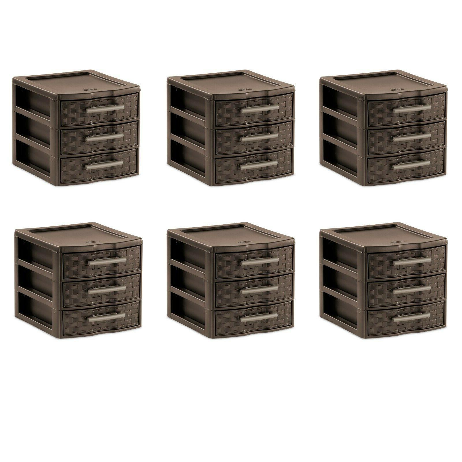 Plastic Storage Drawer Set Sterilite Cabinet Large Organizer Container