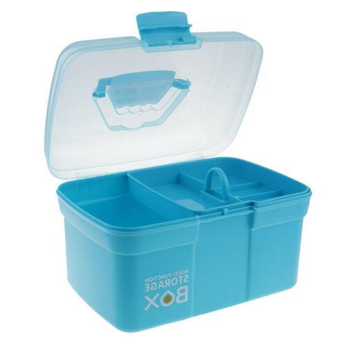 Clear Plastic Storage Case Tray Art Craft Tool,