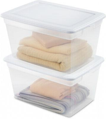 8 PACK Storage Sterilite 58 Container Stackable Bin Lid