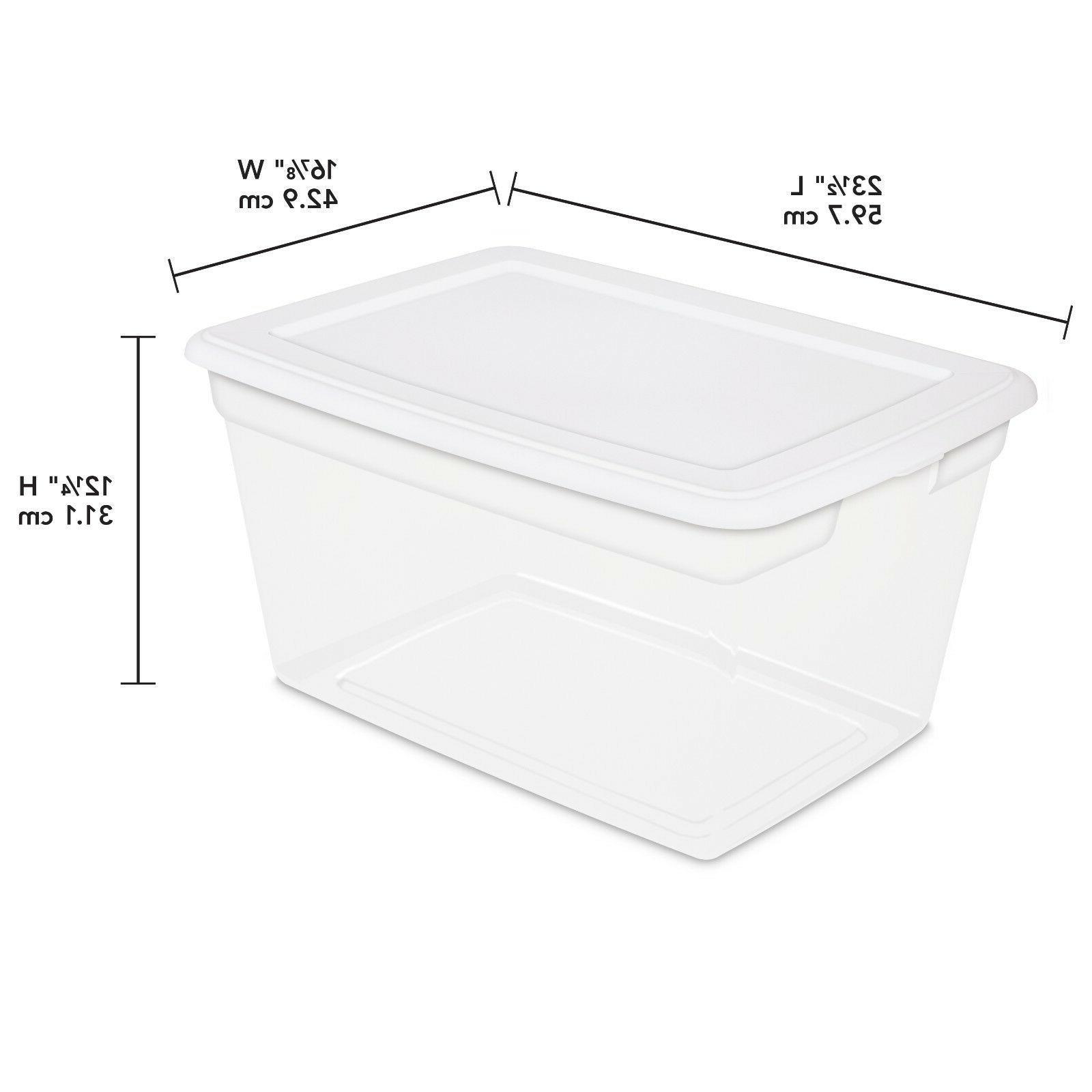 PLASTIC TOTE Quart Clear Bin W/ SET