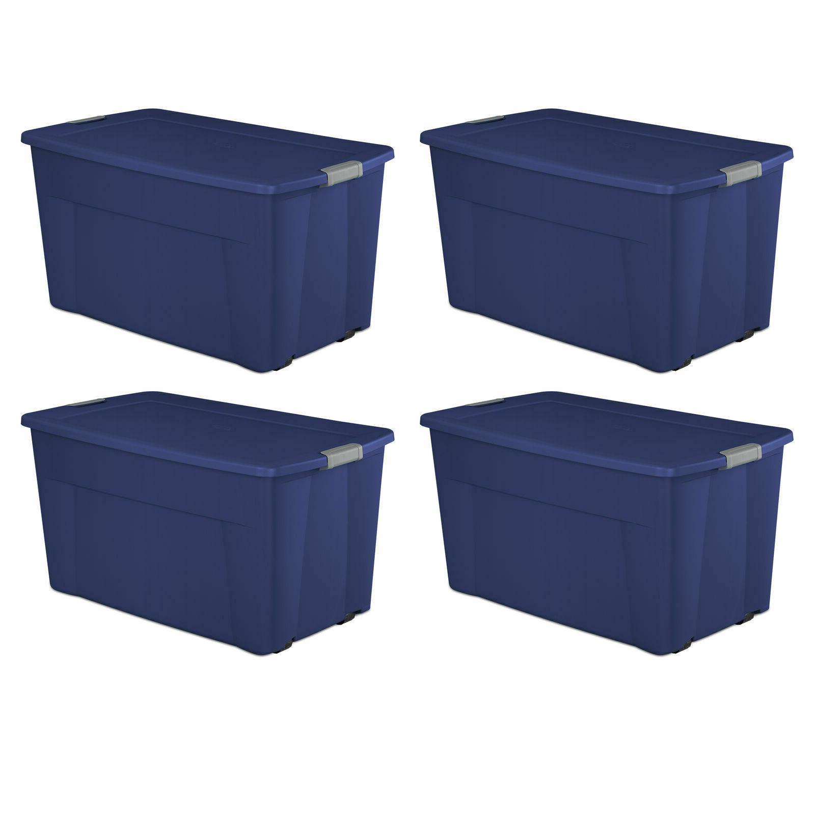 plastic tote storage container w