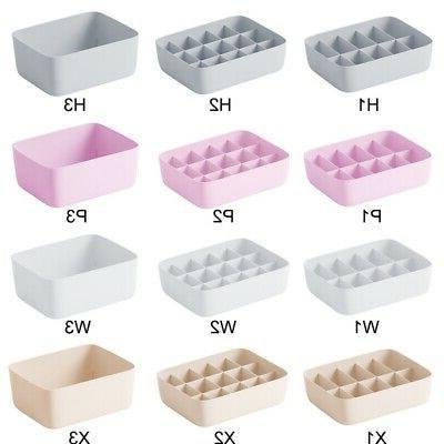 Plastic Underwear Bra Sock Storage Box Closet Drawer Container