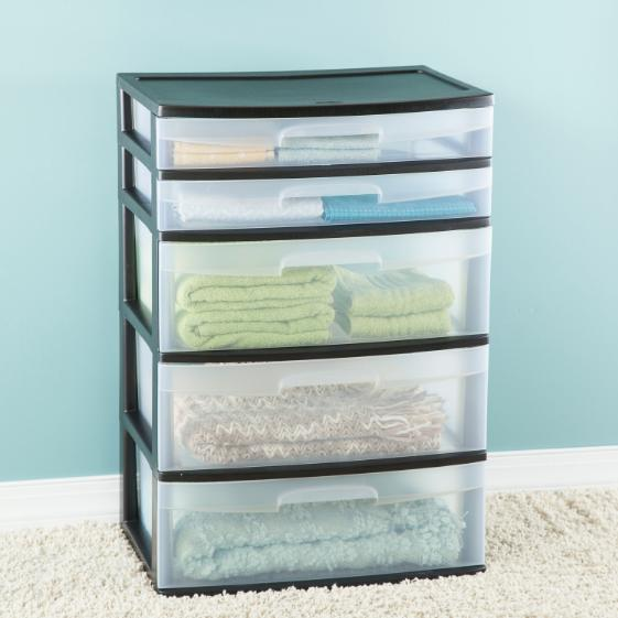 Plastic Wide Drawer Clear Home