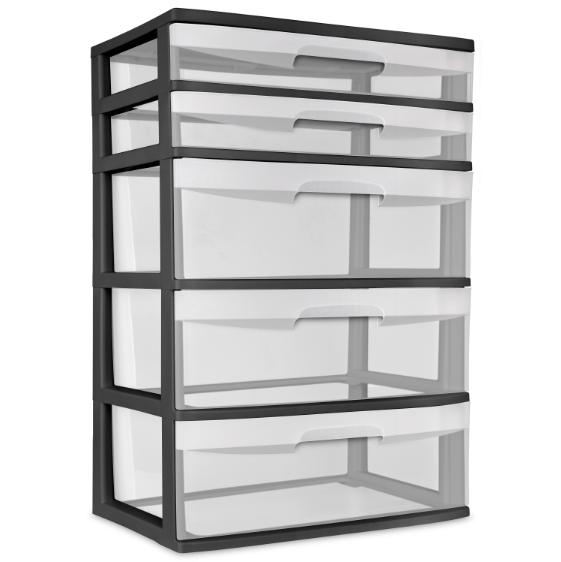 plastic wide tower cabinet drawer heavy duty