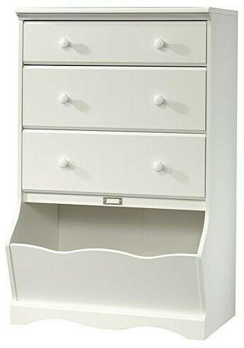 pogo 3 drawer chest with bin storage