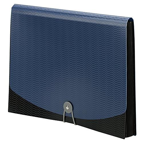 Smead Expanding File, and Cord Closure, Size, Blue/Black