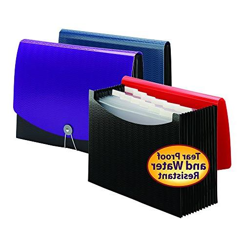 Smead Poly File, and Cord Size, Blue/Black