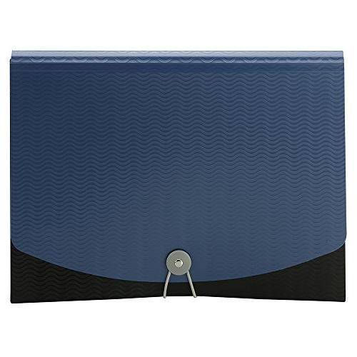 Smead File, Pockets, Flap and Size, Blue/Black