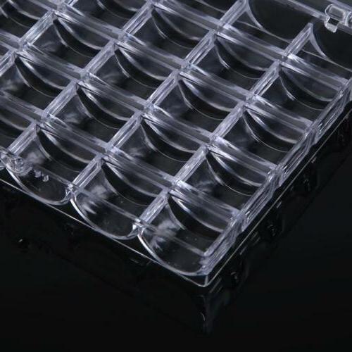 Portable Organizer Box Transparent Supplies Tools Storage