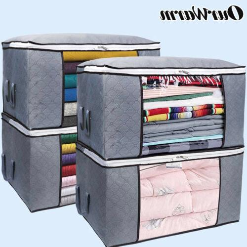 Large Underbed Clothes Storage Bags Ziped Organizer Wardrobe