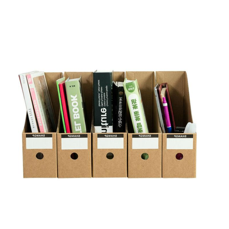 Portable File Box Boxes Cardboard Document File Pack
